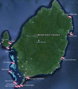 Dive Sites at Morotai Islands