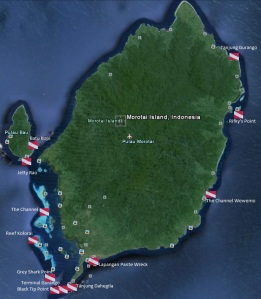 Dive Sites at Morotai Islands