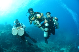 Sidemount Diving in Morotai